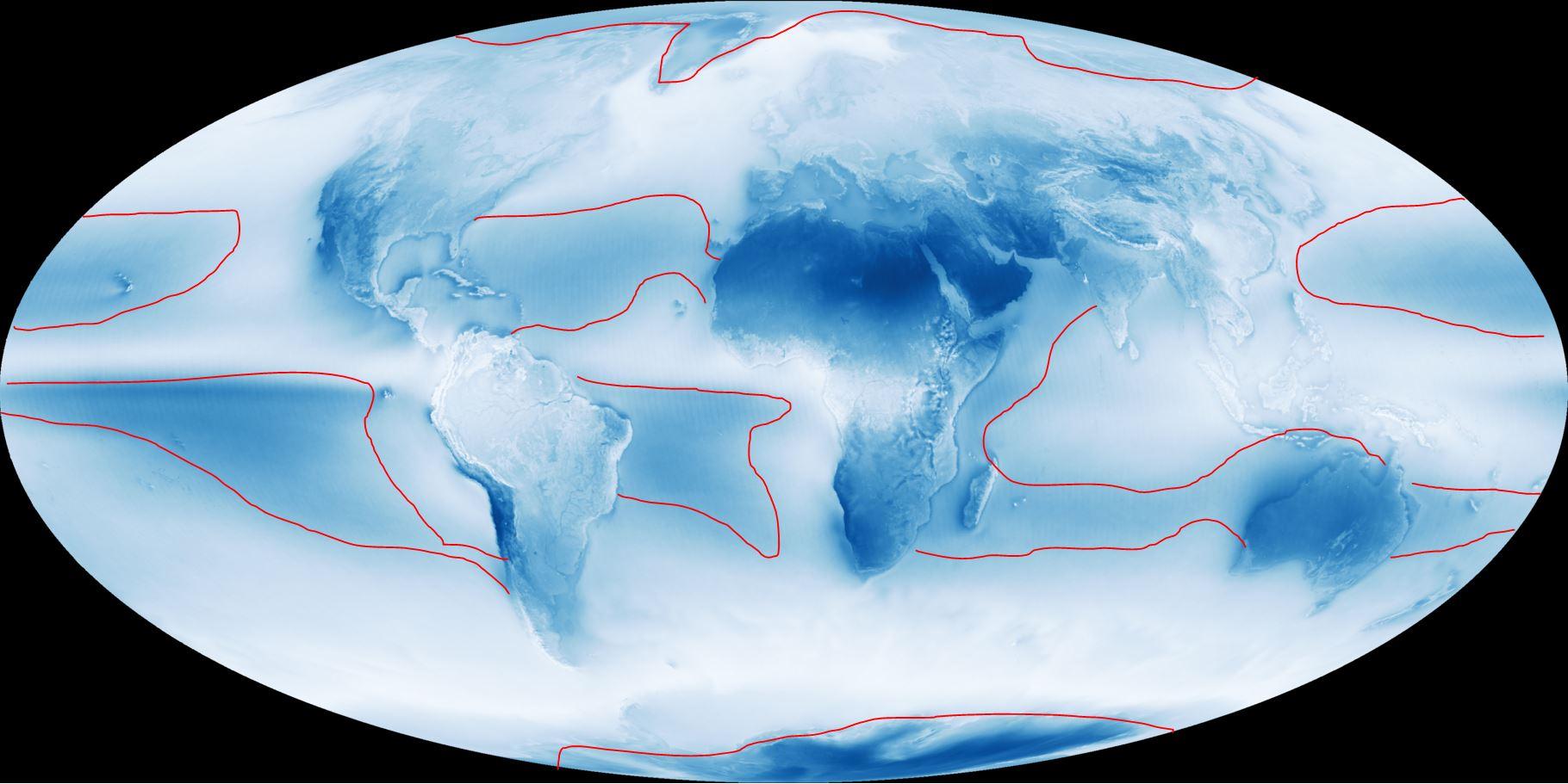 distribution of cloud global
