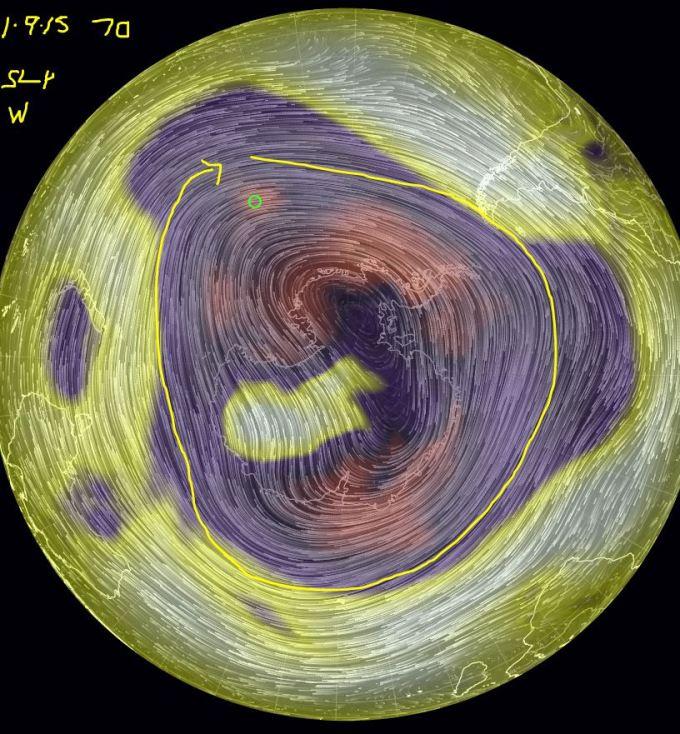 70 Antarctic SLP wind