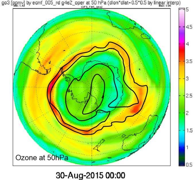 Ozone at 50hPa