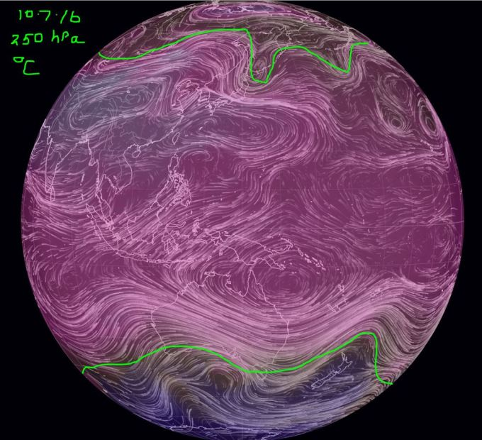 Mesospheric air 250hPa