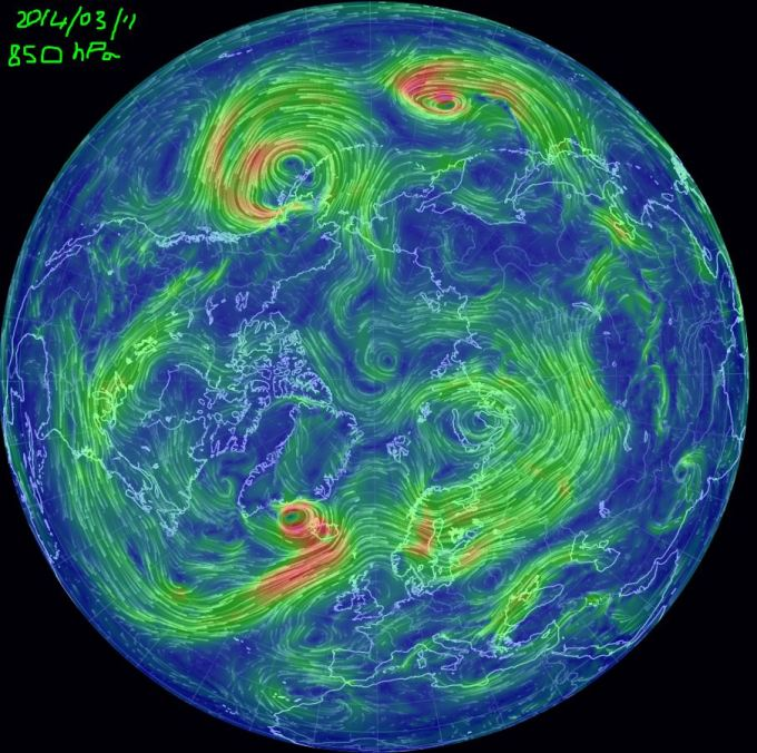 2014 850 hPa