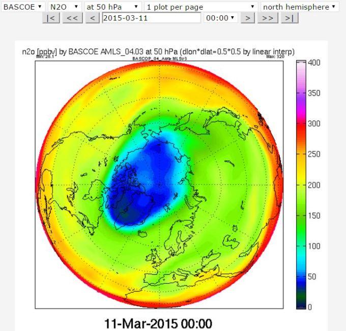 2015 50 hPa Ozone